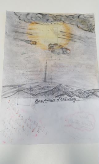 This is a biography of our trip to Wakefield Museum. It is some of the conversations i had with other members of the group. The last drawing is looking from the museum towards Emley moor television mast.